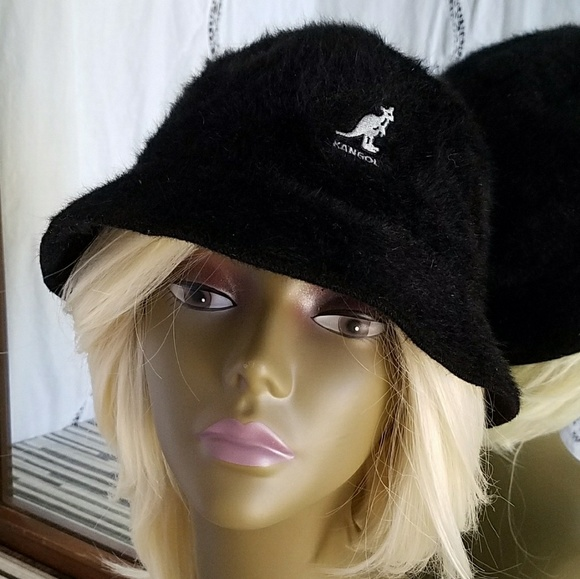 5a94b989c22 Kangol Accessories - Kangol Black Furgora Casual Bucket Hat