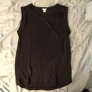 J. Crew rolled-sleeve tank top - size S - Black