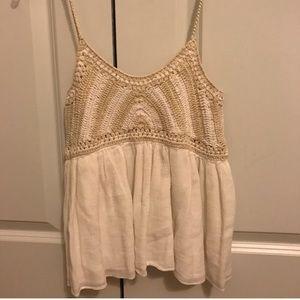 Zara crochet tank