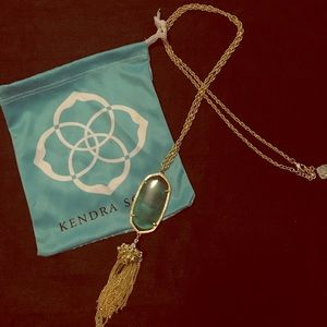 Kendra Scott Rayne Necklace in Emerald Catseye