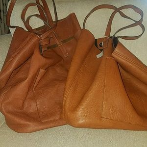 Nordstrom's brown faux leather tote