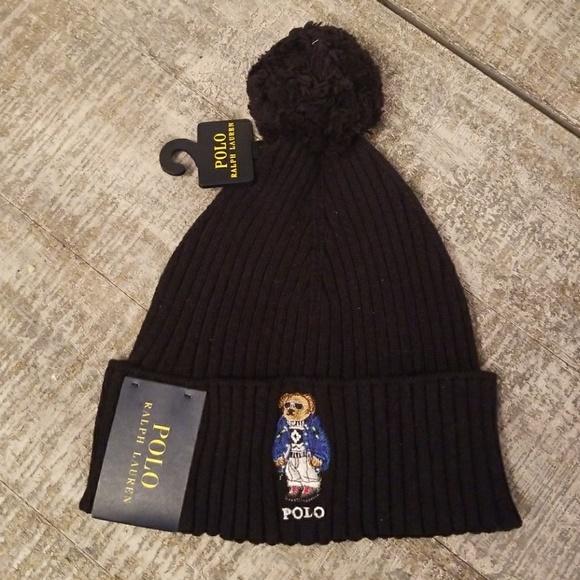 162b513b Polo by Ralph Lauren Accessories | Polo Ralph Lauren Cuffed Bear Pom ...