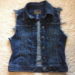 Vintage 90's style cutoff denim vest