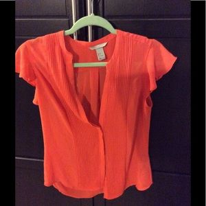 H&M Orange Career Top 6