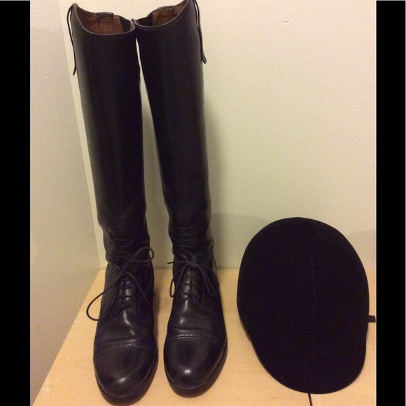 b79edbc4f7d18 Ariat Shoes - Ariat Equestrian Leather Riding Boots   Helmet sz8