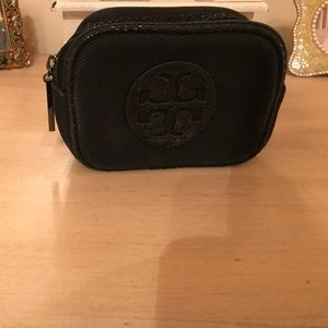 Black Tory Burch small makeup case