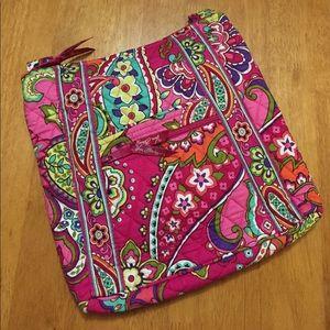 Vera Bradley Hipster Crossbody Bag Pink Swirls