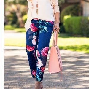Banana Republic Floral Avery Fit Pants