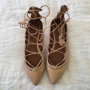 NEW Jeffery Campbell lace up ballet flags