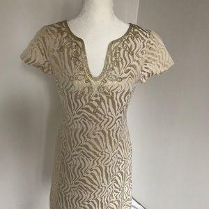 🌟NWT Lilly Pulitzer Gold Milannia Shift Dress 4️⃣