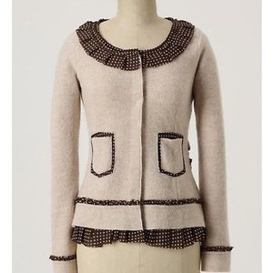 Sparrow Ribbon Trim Merino Sweater Coat