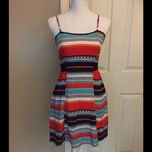 Multi color striped sundress