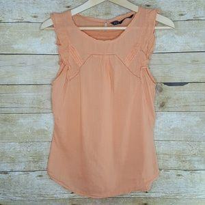 Zara Peach Sleeveless Top Size XS