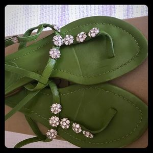 I.Crew jeweled collection sandals