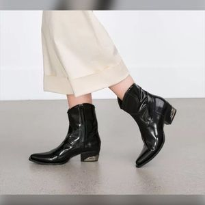 Zara Cowboy Ankle Boots