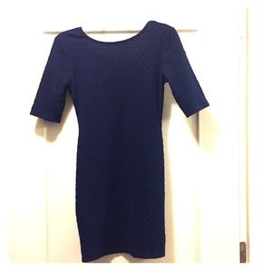 Navy blue Fall dress Xhiliration size small