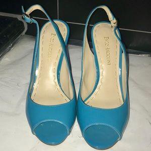 Enzo Angiolini Aqua slingback Peep Toe Shoes.