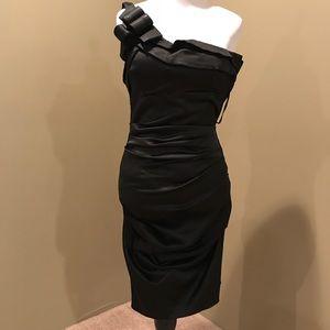 Standing Black Dress.