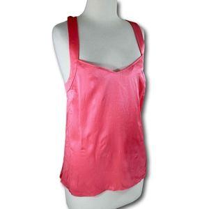 J. Crew Sz 6 S Pink 100% Silk Criss Cross Back Top