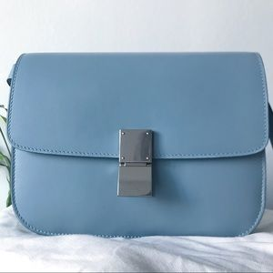 Handbags - Classic Box Medium Genuine Calfskin Dust Blue