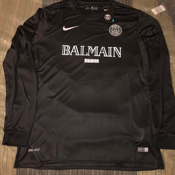 check out 30406 44e96 Limited Edition PSG x Nike Balmain Long Sleeve NWT