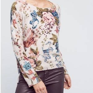🔥NEW!🔥Anthropologie Gray Winter Bouquet Pullover