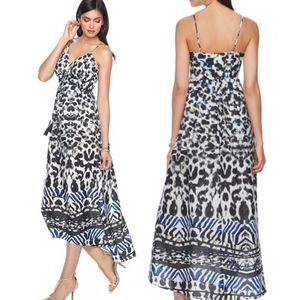 Jennifer Lopez L Print Cami Maxi Dress Hi-Lo NWT