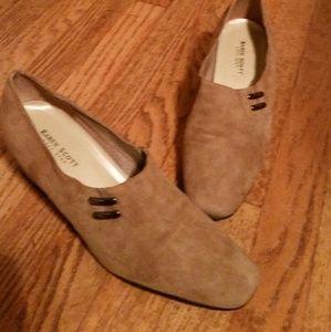 Euc Karen Scott suede heels sz. 8