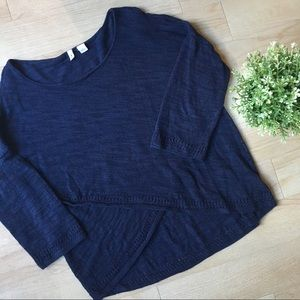 Anthropologie Moth Navy Blue Sweater Medium