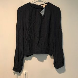 NWT H&M Trend Black & Blue Top