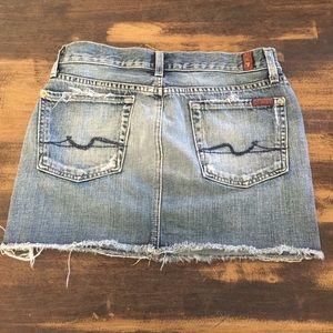 7 FAM bootcut mini skirt sz 27