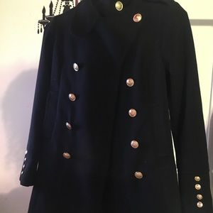 Black Military style jacket with gold buttons|