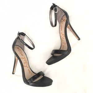 Sam Edelman 'Eleanor' Black Patent Leather Heels