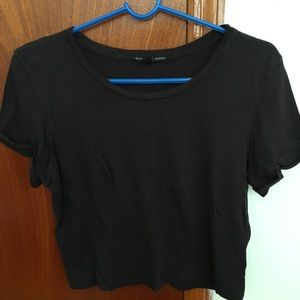 UO truly madly deeply black tee
