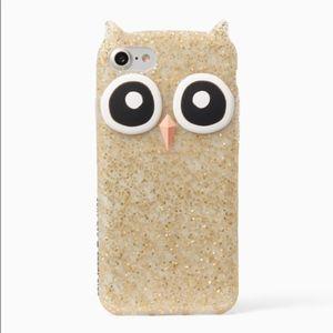 Kate Spade iPhone 7 Glitter Owl Case