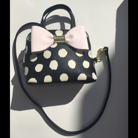 Betsey Johnson Handbags - Betsey Johnson Mini Dome Polka Dot Handbag