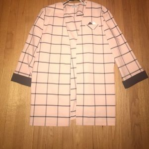 Pink and Blue Checkered Jacket