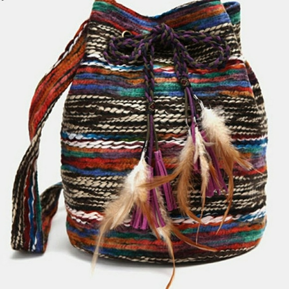 Boutique By The Bay Handbags - Native Vineyard Carpet Bucket Bag