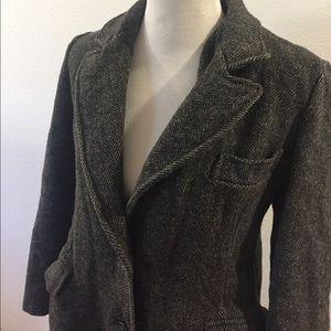 Vintage Larry Levine Wool Long Peacoat