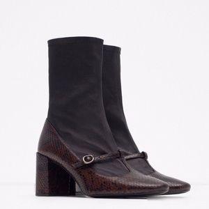 Zara Maryjane Sock Boots