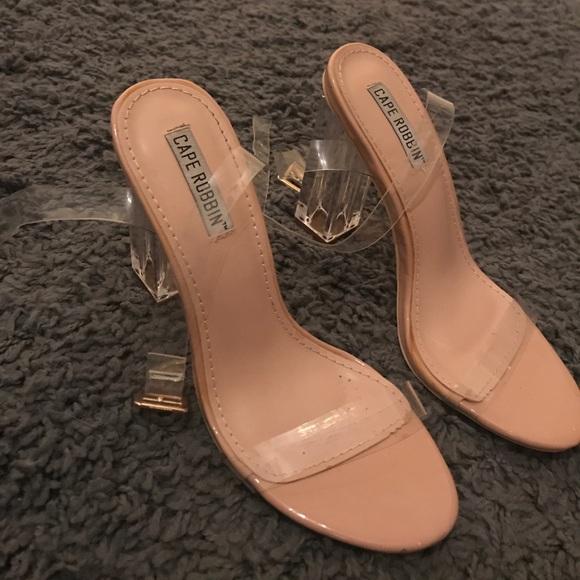 7c333c54d5a The glass slipper- transparent. 4 inch heel