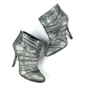 Elizabeth and James Rinna Silver Pewter Booties