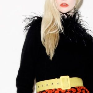 🌖 90s Maribou Trimmed Sweater vintage Clueless 🌘