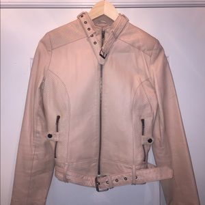 Dusty Pink Leather Jacket