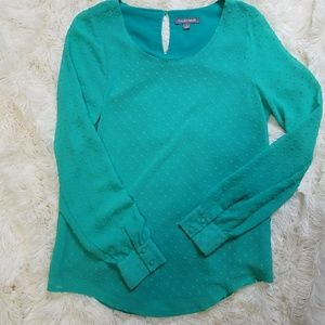 Tinley Road green blouse