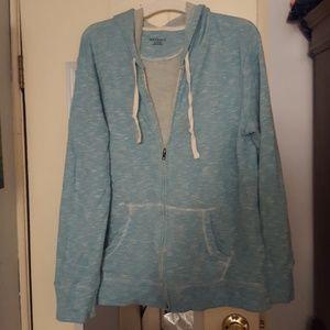 Zip up hooded swearshirt