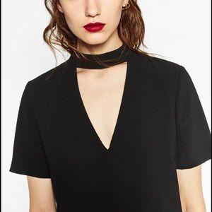 Zara Choker T-shirt