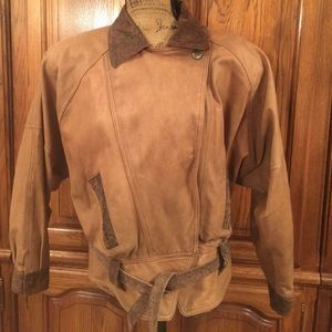 Vintage 80's Hunters Run Leather Jacket