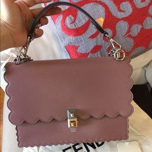 authentic new Fendi mauve medium Kan I bag tote