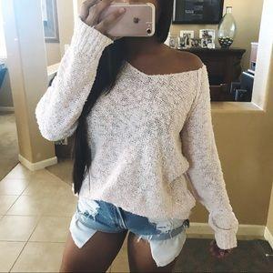 Gorgeous light pink popcorn knit sweater